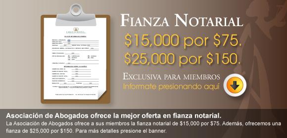 Fondo de fianza notarial colegio de abogados