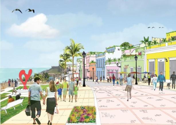 Imagen proyectada en documentos de Walkable City 2030